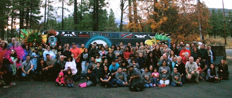 Group shot at the conclusion of the 2014 Celebraciones de la Gente on Sunday, Oct. 26. ©2014 AmigosNAZ.com