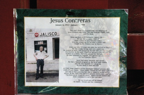 Jesus Contreras in front of his Jalisco market on South O'Leary Street in Flagstaff. Courtesy image.