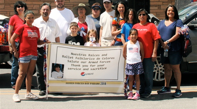 Flagstaff Nuestras Raíces takes part in 2018 Armed Forces Day Parade