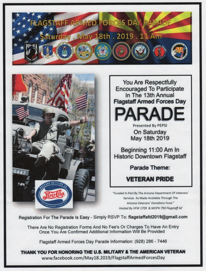 Flagstaff Nuestras Raices to participate in 2019 Armed Forces Day Parade